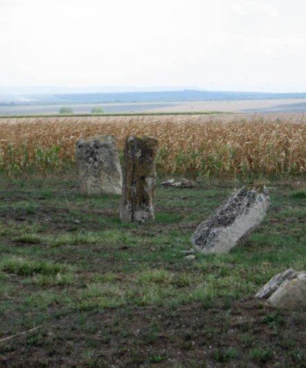 Групи и решетки от менхири - България, до Плиска.