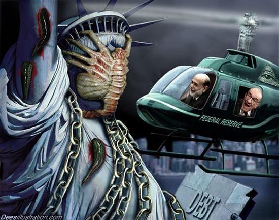 Внимание! Бен Бернанке - великият пилот на плановете как да бъде изсмукана кръвта на човечеството.