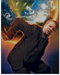Ал Гор подпалва планетата в екофашистка акция, докато претендира, че я спасява.