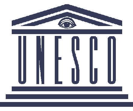 Колаж - логото на ЮНЕСКО и окото на илюминатите.